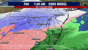 Icing threat continues tonight to the northwest; snow threatens DC Thursday
