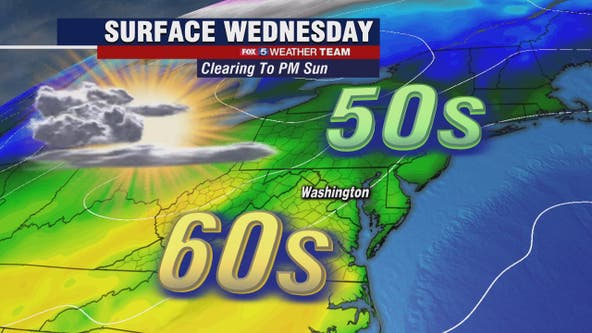 Sunny, mild Wednesday with springlike temperatures in the 60s likely