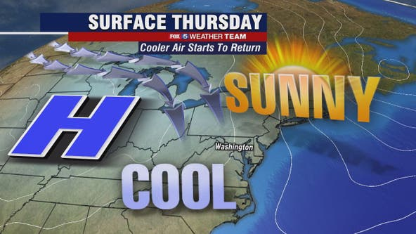 Sunny, chilly Thursday with highs in the 50s