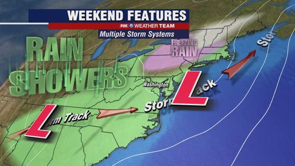 Cool Friday with highs around 50 degrees; weekend showers likely
