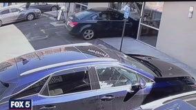 Stunning video shows driver crashing into Alexandria Verizon store, then driving off