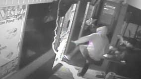 Video shows Gaithersburg restaurant burglar smash his way out