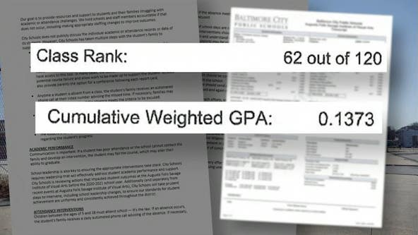 Baltimore-area student passed only 3 classes in 4 years, ranked near top half of class
