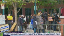 Arlington parents rally for more in person classes for kids