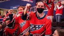 Washington Capitals honor health care workers in first game with fans back in stands