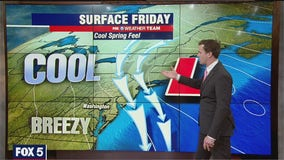 FOX 5 Weather afternoon forecast for Friday, April 16