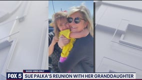 Tears of joy as Sue Palka reunites with granddaughter after separated by COVID-19 pandemic