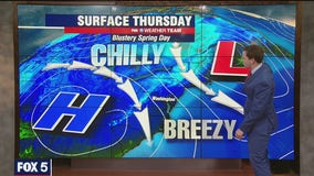 Cool and breezy Thursday with highs in the 50s