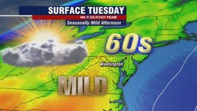 Cloudy, dry and mild Tuesday with highs in the mid-60s