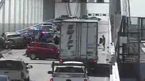 Multiple vehicles crash on Bay Bridge; emergency crews responding