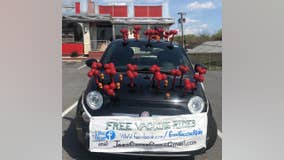 NJ couple giving free rides to COVID-19 vaccine sites in one-of-a-kind virus-shaped car