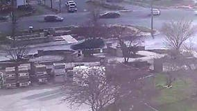 New security footage shows Frederick shooting suspect chasing victim