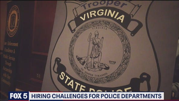 Northern Virginia police departments facing challenges filling ranks