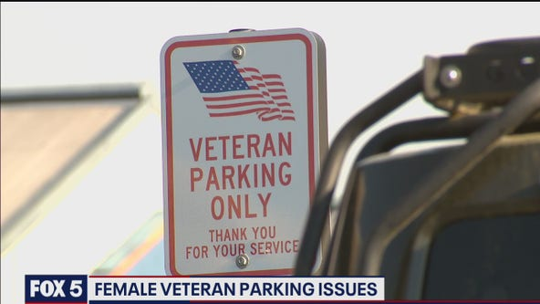 Female military member says service often overlooked at priority parking spaces for veterans