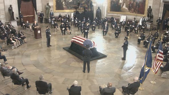 Fallen Capitol Police officer William 'Billy' Evans lies in honor at US Capitol