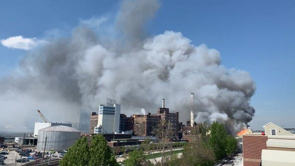 Fire erupts at Baltimore's Domino Sugar plant, no injuries reported