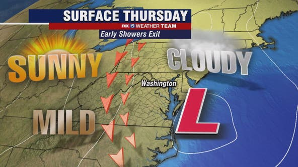Clouds, drizzle Thursday morning; clear, breezy afternoon
