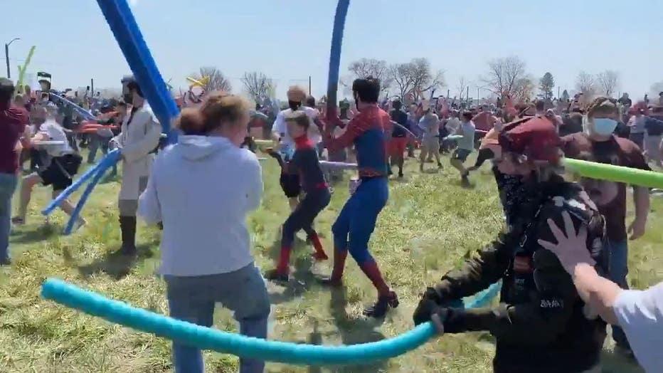 Josh noodle fight (2)