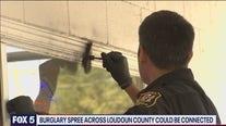 Investigation underway in Loudoun County burglary spree