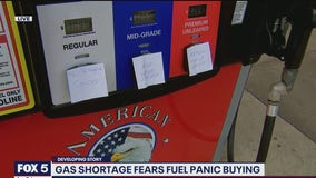Gas shortage fears fuel panic buying