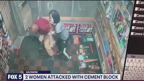 Video: Man charged in Baltimore after attacking women with cement block