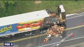 Fire involving hot dog truck cause delays in Haymarket