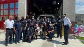7-year-old girl shot in DC reunites with crew who helped save her life