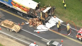 Fire involving hot dog truck causes delays in Haymarket