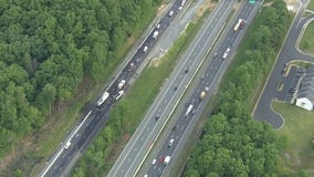 Stafford County tractor trailer fire causes Monday morning delays
