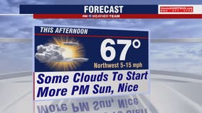 Morning clouds Wednesday with afternoon sunshine; highs in the 60s