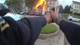 Bodycam video shows Baltimore County police shoot man who killed 3 neighbors, set home on fire