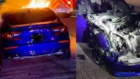 Anne Arundel officer pulls driver out of burning car