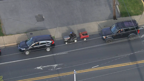 Video: Maryland lawnmower driver caught on camera waiting in line for gas