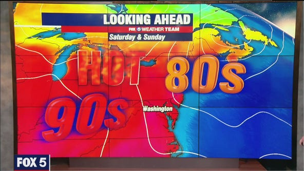 Hot Friday with highs in the 80s; temperatures back in the 90s this weekend