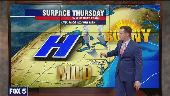 Sunny Thursday with mild temperatures near 70 degrees