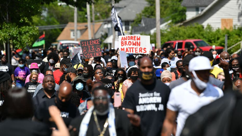 Protest after killing of Andrew Brown Jr. in North Carolina