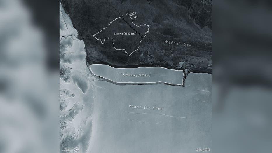 Largest iceberg
