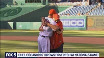 Chef Jose Andres throws out first pitch at Nats game