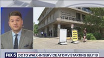 DC DMVs will allow walk-in service starting July 19