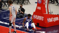 76ers All-Star Joel Embiid won't play in game 5 against Wizards after meniscus tear