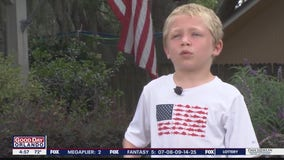 Boy, 7, swims an hour to rescue his dad and little sister stuck in Florida river