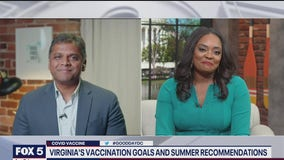 COVID-19 vaccination goals, summer recommendations for Virginia