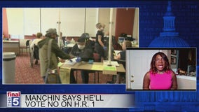 Manchin no vote announcement on HR 1 angers fellow Dems