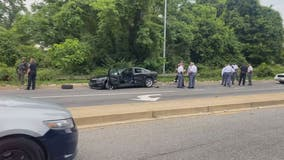 Officer struck by vehicle in Temple Hills released from hospital; 3rd suspect in custody
