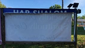 Synagogue's pro-Israel banner vandalized, prompting Montgomery County police investigation