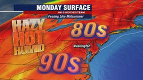 Hot, hazy and humid Monday as heat wave continues; scattered thunderstorms possible later in the day