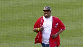 Decorated Capitol police officer throws out first pitch at Nationals game