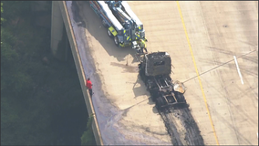 Tractor trailer fire out; traffic still delayed on I-95 southbound in Prince William County