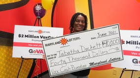 Charles County woman claims $40K in 'VaxCash' lottery