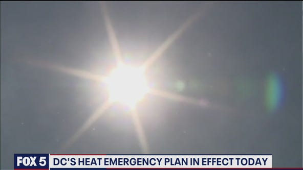 DC Heat Emergency Plan activated as temperatures in the 90s expected; cooling centers open